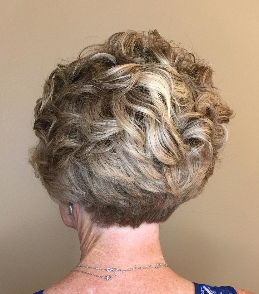 Over Curly Pixie With Stacked Nape