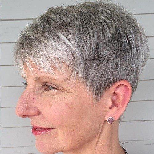 Gray Pixie For Older Women